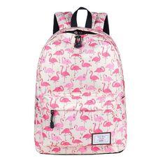 a09f613d0583 Women Flamingo Printing Backpacks. Canvas BackpackBackpack BagsFashion ...