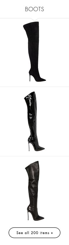 """BOOTS"" by belladelarosa ❤ liked on Polyvore featuring shoes, boots, high boots, casadei, footwear, heels, black, over the knee heel boots, heeled boots and platform heel boots"