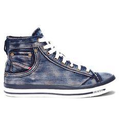 Diesel Denim Exposure Hi-Top Sneakers | Fizzm | Shop The Cool Life