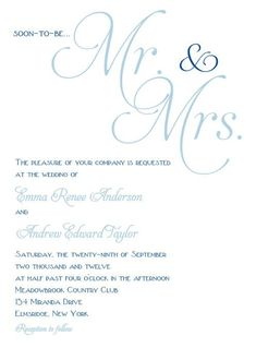 I like the simplicity of this invite.