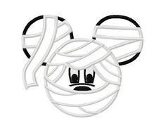 Character Mummy Embroidery Applique Design by OMAdigitizing