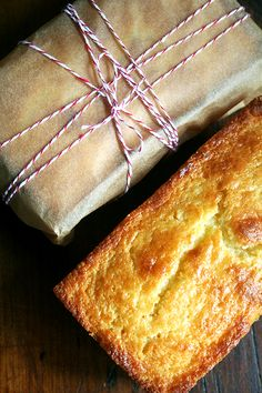 Orange Ricotta Pound Cake... I love the packaging for this as a gift too.