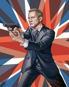 James Bond - Daniel Craig by Jeff Langevin James Bond Movie Posters, James Bond Movies, Movie Poster Art, James Bond Party, James Bond Style, Arte Nerd, Daniel Craig James Bond, Timothy Dalton, Z Cam