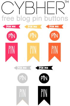 Free pin hover buttons for your blog - Cybher