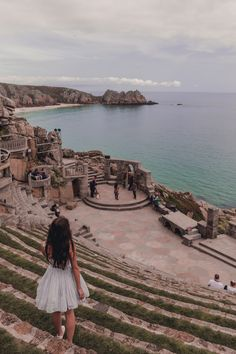 During our Cornwall road trip we visited the breathtaking Minack Theatre and neighbouring Porthchapel Beach. Yorkshire England, Yorkshire Dales, Oxford England, London England, Places To Travel, Places To See, Places Around The World, Around The Worlds, Things To Do In Cornwall