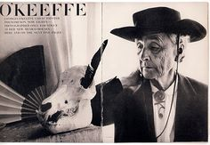 Georgia O'Keeffe at age 80, photograph by Irving Penn, Vogue, 1970