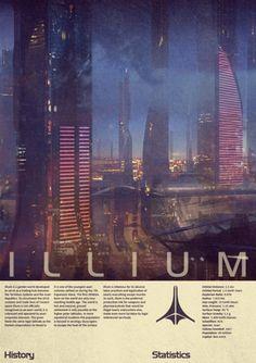 Illium Tourist Poster - Fan Art - Mass Effect 3