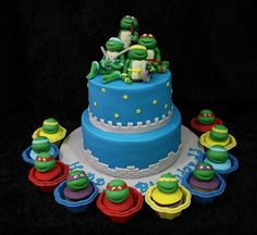 Ninja Turtles Cake and Cupcakes