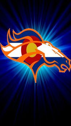 Broncos Sun Colorado Flag