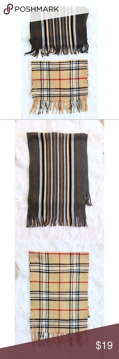Fall/Autumn Scarf Duo Burberry pattern and striped Two gorgeous and very soft scarves perfect for your fall closet! Accessories Scarves & Wraps