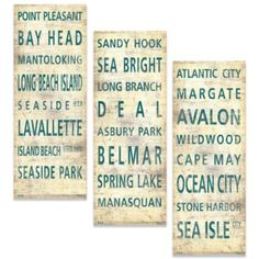 "Want the ""Central"" one!!!!   Jersey Shore Places Canvas Wall Art - BedBathandBeyond.com"