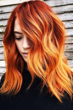 25 Eye-Catching Ideas Of Pulling Of Orange Hair Today Copper Burnt Orange Ombre ❤ Looking for orange hair color ideas? Bright orange ombre with dark roots, pastel and neon pink ideas, light copper shades, and lots of inspirations is he Orange Hair Bright, Pastel Orange Hair, Orange To Blonde Hair, Magenta Hair Colors, Red Ombre Hair, Hair Color Shades, Ombre Hair Color, Blonde Ombre, Peach Orange