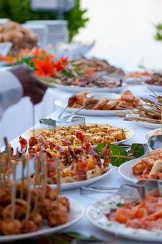 Yummy Waterside Seafood Wedding Buffet Chic Bahamas Weddings