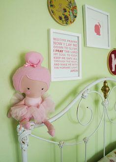 Adorable handmade doll for a little girl