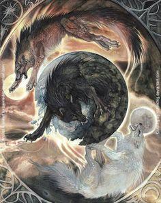 Hati & Skóll-fils de Fenrir Hati Hródvitnison et Skóll Hródvitnison sont les fils de Fenrir avec une géante ne connait pas le nom.