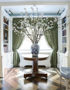 Entryway Round Table And Flower Arrangement   Google Search | Grand  Impression | Pinterest
