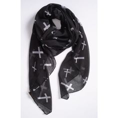 Evelyn K Cross Print Scarf ($24) ❤ liked on Polyvore