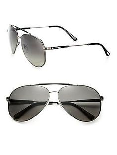 Tom Ford Eyewear Rick 62MM Aviator Sunglasses