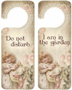 No molestar - Estoy en el jardín