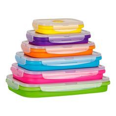 Flat Stacks - Collapsible Silicone Food Storage Containers