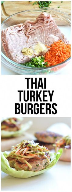 30 Thai Turkey Burgers These Thai Turkey burgers are bursting with flavor and are clean and compliant! Perfect meal for summer!These Thai Turkey burgers are bursting with flavor and are clean and compliant! Perfect meal for summer! Clean Eating Recipes For Dinner, Clean Eating Snacks, Healthy Eating, Eating Habits, Clean Dinners, Light Meals For Dinner, Budget Clean Eating, Light Summer Meals, Clean Eating Breakfast