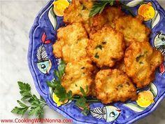 Nonna Eugenia's Cauliflower Patties.