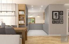 Dom w Milanówku Kitchen Interior, New Kitchen, Bathroom Inspiration, Interior Inspiration, House Lift, Interior Architecture, Interior Design, Bookcase, Shelves
