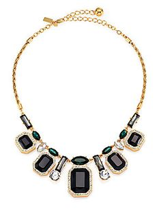 Kate Spade New York Art Deco Gems Graduated Necklace