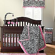 Okie Dokie® Lipstick Zebra 4-pc. Bedding Set