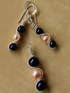 Swarovski Pearl Wire Wrapped Earrings