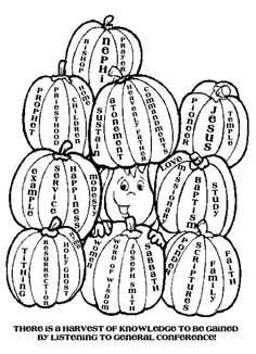 cute pumpkin activity for fall general conference so going to let the girls have at lds churchchurch ideaslds conferencecoloring pagesmemory