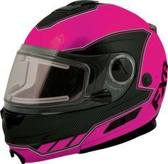 FXR Racing - Snowmobile Gear - Fuel Modular Helmet - Electric & Non-Electric Shield - Fuchsia/Black