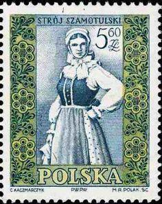 Polonia-Trajes Regionales-Traje de Szamotulska de mujer