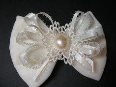 OFF White Velvet Holiday Christmas Hair Bow Toddler by HareBizBows, $11.99