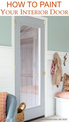 Instantly add color to your space by painting your interior door. How to paint a door {interior door makeover}