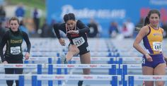 Ames' Isabel Ingram clears a hurdle during the 100-meter high hurdles at the Drake Relays on Friday at Drake Stadium in Des Moines. Photo by Nirmalendu Majumdar/Ames Tribune http://www.amestrib.com/sports/20170428/track-and-field-ames-sends-two-relays-to-finals
