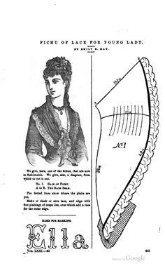 fichu petersons magazine june 1877