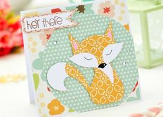 Crafts Beautiful fox card - Send a card to say hi, or a quick note to let someone know you're thinking about them.