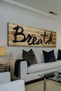 Breath Brown Distressed Wood Wall Art