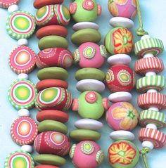 polymer clay beads by clayspirits, via Flickr