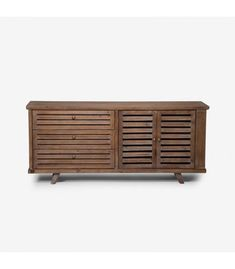 The Benson sideboard has retro charm and elegance. This one of a kind sideboard features three spacious drawers and two shutter-style cabinets. Cabinet Styles, Sideboard, Consoles, Storage, Metal, Wood, Furniture, Home Decor, Purse Storage