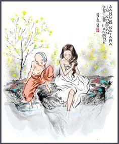 Aang and Katara by jannie