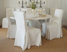 dining chair slipcovers - Google Search
