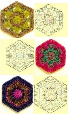 Luty Artes Crochet: Square em crochê + Grafico
