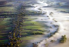 Fog Over Fields Landscape