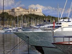 Yachts in Antibes harbour, France