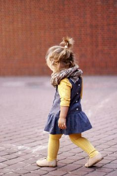 denim and yellow. #designer #kids #fashion