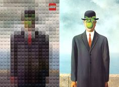 The Son of Man, René Magritte | Famous Paintings Reimagined Using Legos