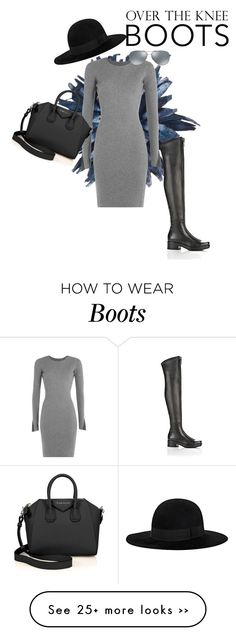 """Over-The-Knee-Boots"" by irenaam on Polyvore featuring Alexander Wang, Givenchy, Yves Saint Laurent, Ray-Ban and OverTheKneeBoots"