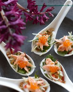 Smoked Trout with Green Mango & Lime Dressing. From Simmone Logue via Thomas Dux.